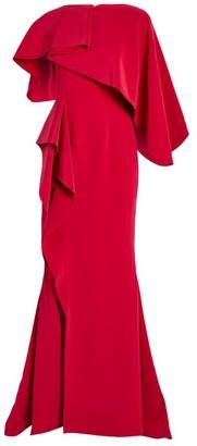 Azzi & Osta Asymmetric Cape Gown