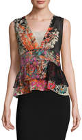 Tracy Reese Women's Overlay Shell Silk Top