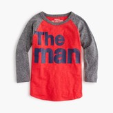 "J.Crew Boys' three-quarter sleeve ""the man"" T-shirt in the softest jersey"