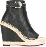 Givenchy studded buckle platform boots - women - Calf Leather/Leather - 39