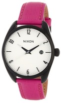 Nixon Women's Bullet Saffiano Leather Strap Watch