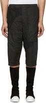 Alexandre Plokhov Black Patchwork Shorts