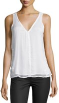 Sanctuary Berry Embroidered Silk Tank, White