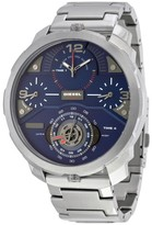 Diesel Machinus Chronograph Four Time Zone Dial Stainless Steel Men's Watch DZ7361