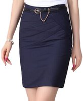 Top-EC Women J-SUN-7 Women's Cotton Mini Skirt Office Wear Above Knee Pencil Skirt(,M)