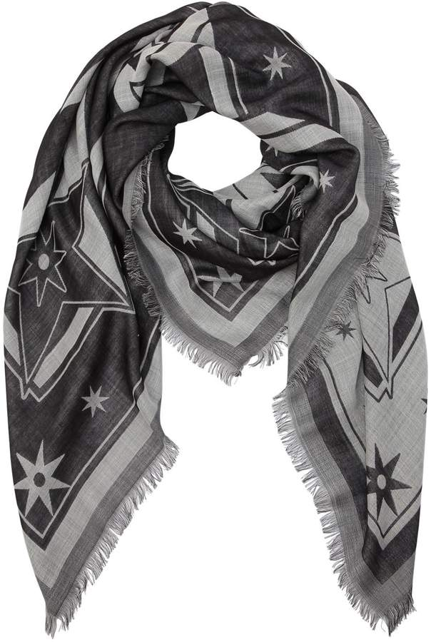 Givenchy Printed Wool & Silk Blend Scarf