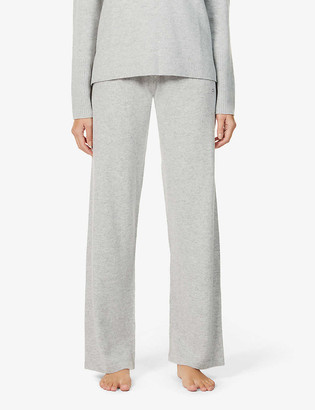 Chinti and Parker Essential wide-leg high-rise cashmere trousers