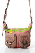 Sissi Rossi Sissirossi Pink Yellow Green Red Canvas 2 Pocket Zip Top Shoulder Handbag