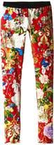 Roberto Cavalli Floral Print Leggings Girl's Casual Pants