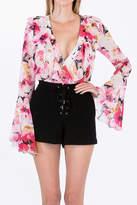 Olivaceous Floral Bodysuit