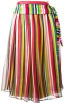 No.21 striped midi skirt - women - Silk/Acetate - 42
