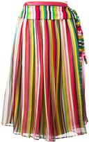 No.21 striped midi skirt