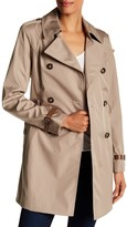 Via Spiga Double Breasted Bonded Trench Coat