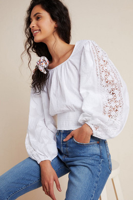 Maeve Sinead Lace Peasant Blouse