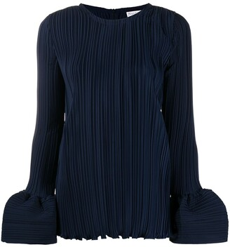 J.W.Anderson Plisse Blouse With Balloon Cuffs