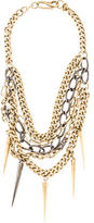 Paige Novick Mixed Chain Necklace with Spikes