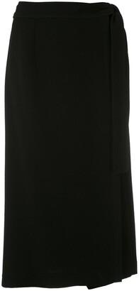 Gloria Coelho Straight Midi Skirt