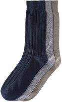 Joe Fresh Men's 3 Pack Ribbed Crew Socks, Khaki Green (Size 10-13)