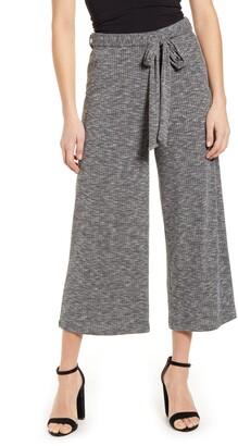 Bobeau Rib Knit Crop Pants