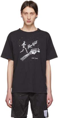 Satisfy Black Guitar Moth Eaten T-Shirt