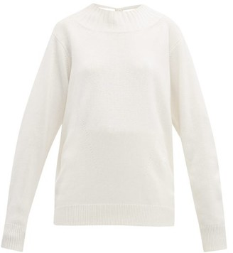 Chloé Iconic Open-back Cashmere Sweater - Womens - White