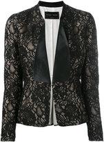 Christian Pellizzari lace flared jacket