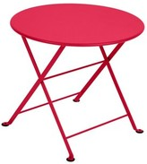"Fermob Tom Pouce Metal Side Table Color: Pink Praline, Table Top Size: 19"" H x 20"" W x 20"" L"