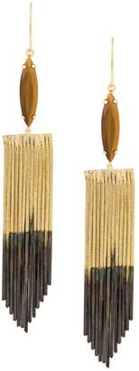 Iosselliani Tiger Eye earrings