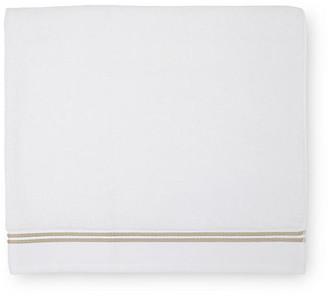 Sferra Aura Bath Sheet - White/Almond