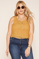 Forever 21 FOREVER 21+ Plus Size Floral Crochet Top