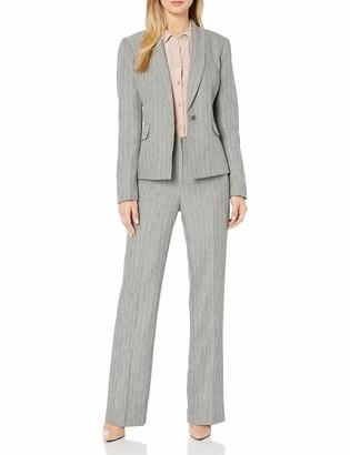 Le Suit LeSuit Women's Stripe 1 Bttn Shawl Collar Pant