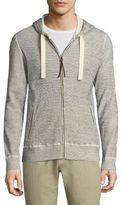 Billy Reid Textured Zip-Front Hoodie