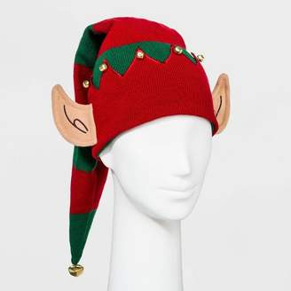 Ugly Stuff Holiday Supply Co. Women's Striped 3D Elf Ears Sleep Cap - Red/Green - One Size
