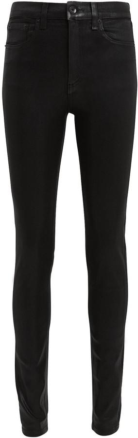 Rag & Bone Coated High-Rise Skinny Jeans
