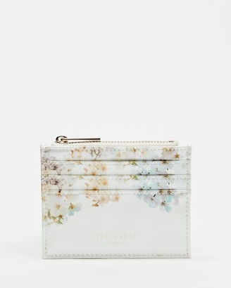 Ted Baker Women's White Card Holders - Vanilla Square Top Zip Card Holder - Size One Size at The Iconic