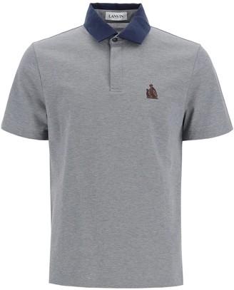 Lanvin Lavin Logo Polo Shirt