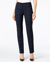 Alfani Petite Plaid Skinny Pants, Only at Macy's