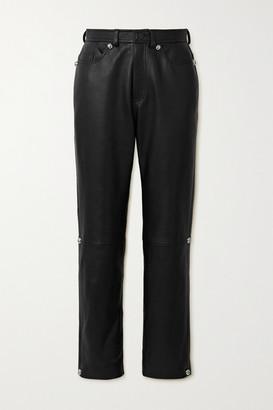 Christopher Kane Dome Leather Straight-leg Pants - Black