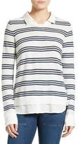 Joie Women's Rika J Layered Look Stripe Sweater