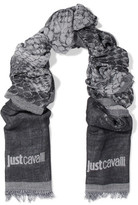 Just Cavalli Printed Knitted Scarf