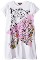 Roberto Cavalli Short Sleeve Leopard Graphic T-Shirt Dress (Big Kids)