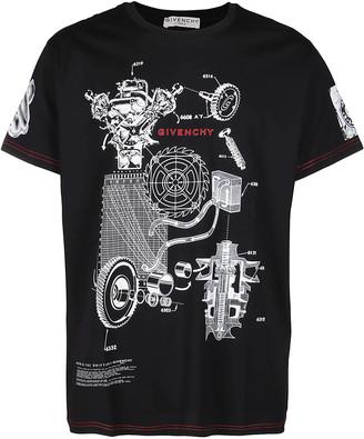 Givenchy Schematics Print T-Shirt