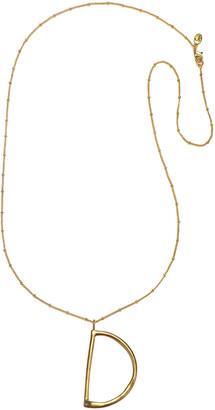 Sequin Long Initial Pendant Necklace