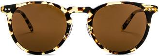 Garrett Leight Ocean 46 in Block Tortoise & Gold & Sienna | FWRD