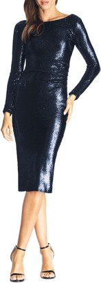 Dress the Population Emilia Sequin Long Sleeve Cocktail Dress