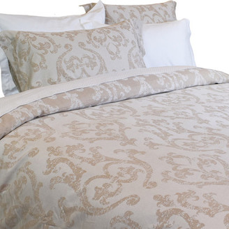 Natural Comfort Yue Home Textile Yarn-dyed Linen Cotton Duvet Cover Set, Baroque Patte