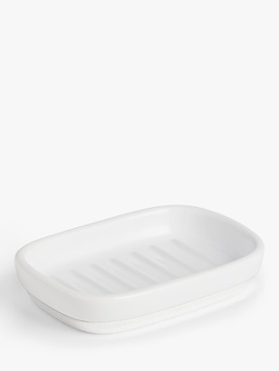 John Lewis & Partners White Ceramic Soap Dish