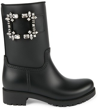 Roger Vivier Viv Run Strass Rain Boots