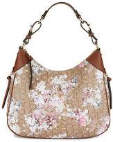 Calvin Klein Floral Monogram Hobo Bag