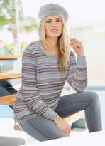 Together Stripe Lace Sweater